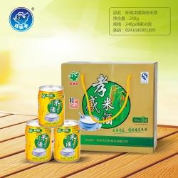 宜州旺福龙罐装米酒饮品248g