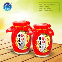 湖北旺福龙瓶装佬米酒1000g