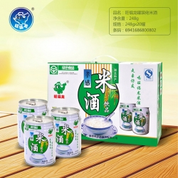 武汉旺福龙罐装米酒饮品248g
