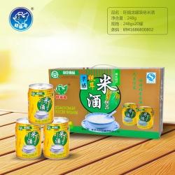 丹东旺福龙罐装米酒饮品248g