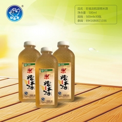 湖北旺福龙瓶装糯米酒500ml